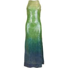 Halston Ombré Sequin Mermaid Gown