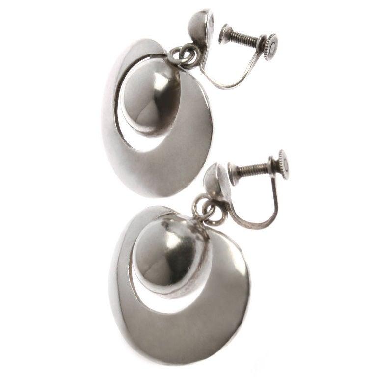 Sterling silver dangle flower earrings - silver flower earrings dangle blue