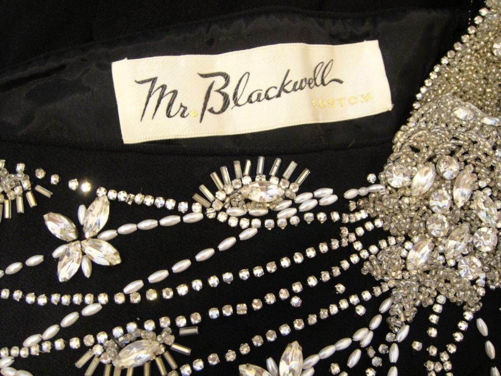 Mr Blackwell Bejeweled Crepe Column For Sale 1