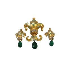 Regal 50's Joseph Mazer Fleur de Lis Brooch and Earring set