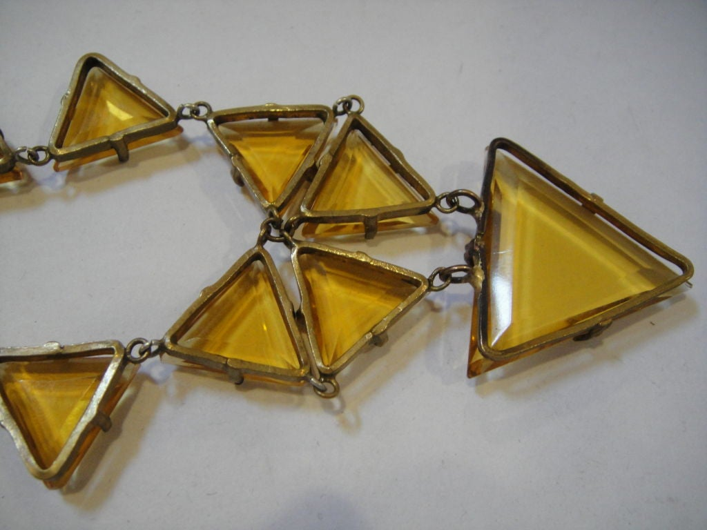 Striking 20's Art Deco Crystal Necklace 2