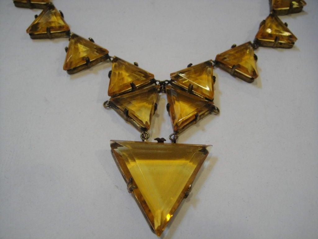 Striking 20's Art Deco Crystal Necklace 3
