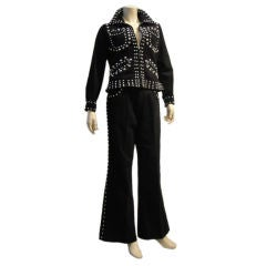 Silver Studded 1960's Groovy Pantsuit