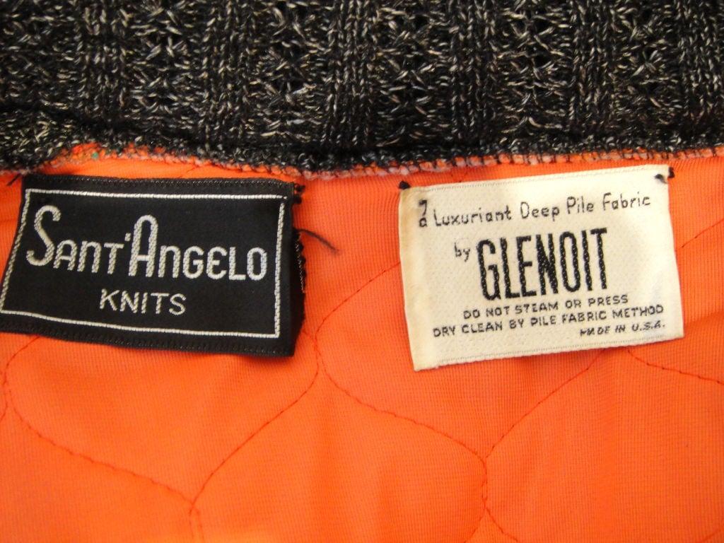 Sant' Angelo Faux Fur Sleeve Ethnic Knit Jacket 3