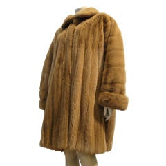 Fendi Caramel Color Reversable  Mink Swing Coat