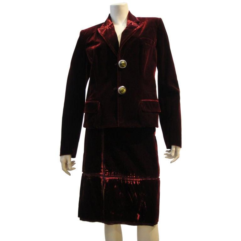 Velvet Skirt Suit 23