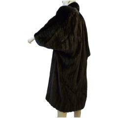 Galanos for Neiman Marcus Black Onyx Dolman Sleeve Mink Coat