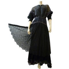 Koos Van den Akker Victorian Inspired Lace Tulle and Ruffle Gown