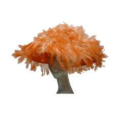 Extravagant Whimsical Chiffon Floral Fringe Spring Hat