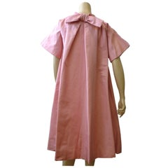 Sarmi 60s Pink Silk Baby Doll Opera Coat