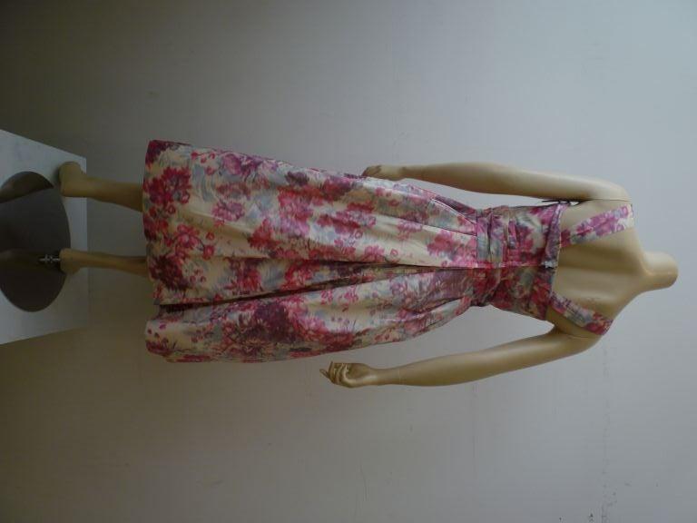 Wonderful Helen Sjolander 1950s Silk Floral Party Dress For Sale 1