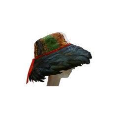 Jillé 1950's Pheasant and Coq Feather Hat