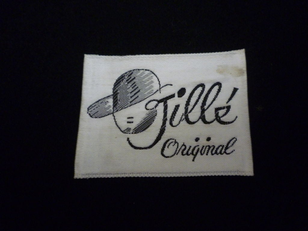 Jillé 1950's Pheasant and Coq Feather Hat For Sale 1