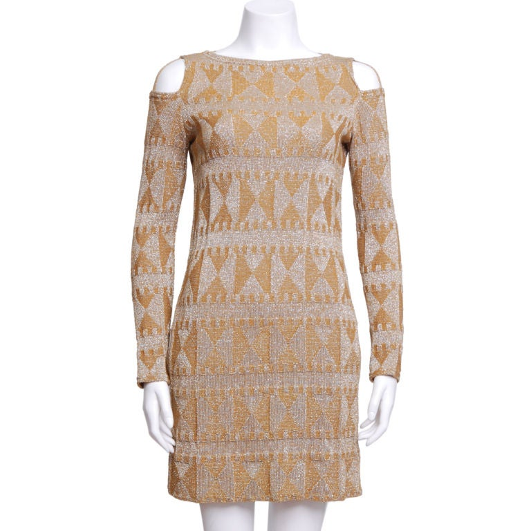 Rudi Gernreich Metallic Knit Mini Dress 1