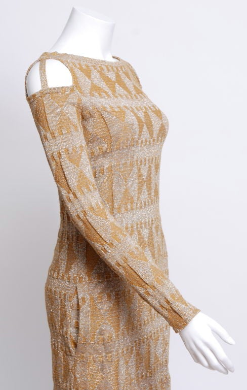 Rudi Gernreich Metallic Knit Mini Dress 3