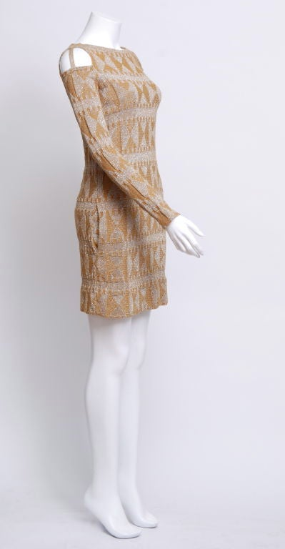 Rudi Gernreich Metallic Knit Mini Dress 2