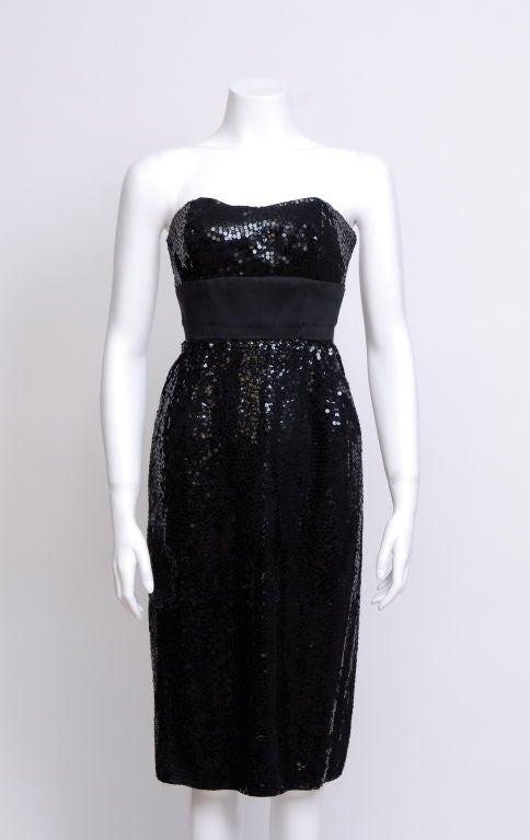 Black Sequin Cocktail Dress Sale 96