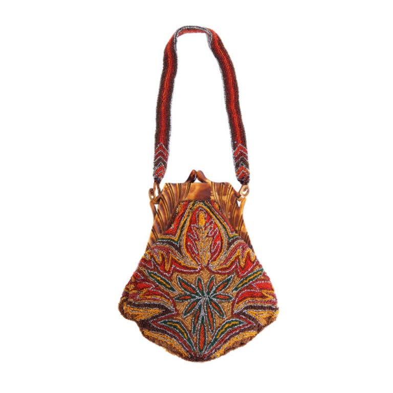 20 s celluloid and seed bead purse at 1stdibs