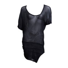 Gianni Versace Black Dolman Sleeve Tunic