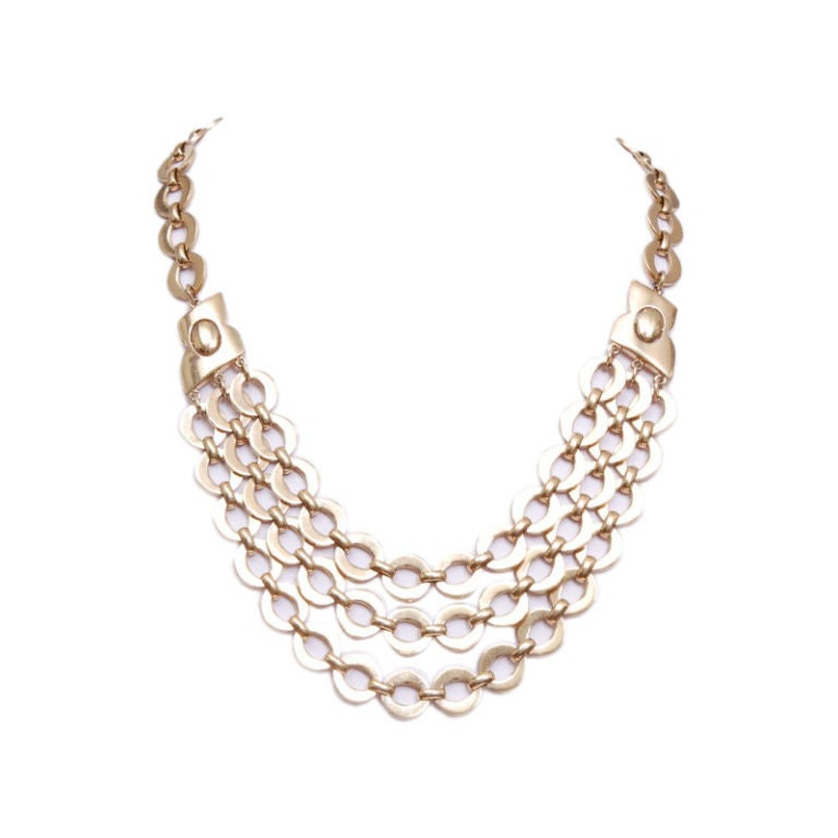 trifari gold chain necklace at 1stdibs