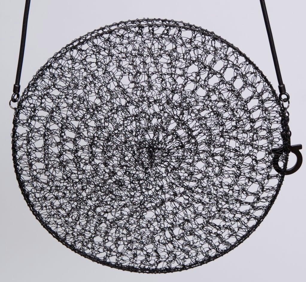 Salvatore Ferragamo Rhodium Metal Woven Bag 2