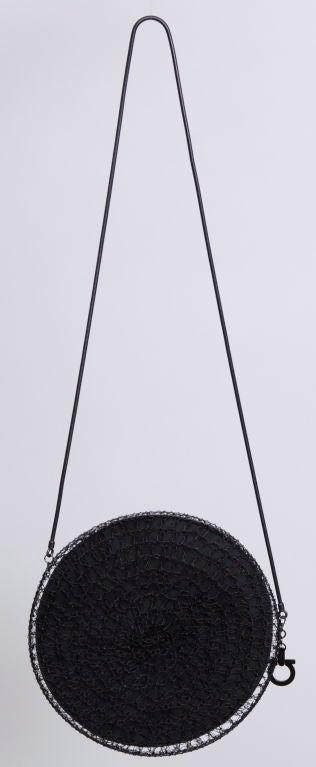 Salvatore Ferragamo Rhodium Metal Woven Bag 3