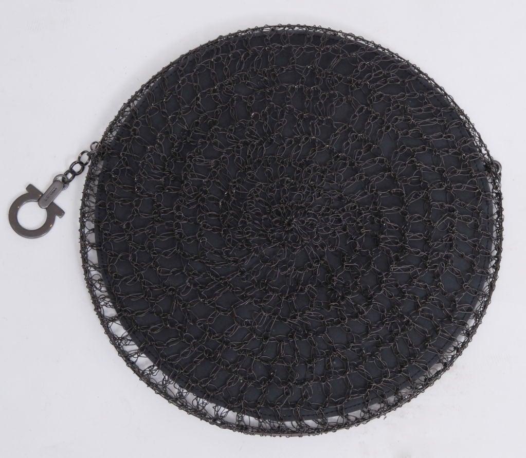 Salvatore Ferragamo Rhodium Metal Woven Bag 4