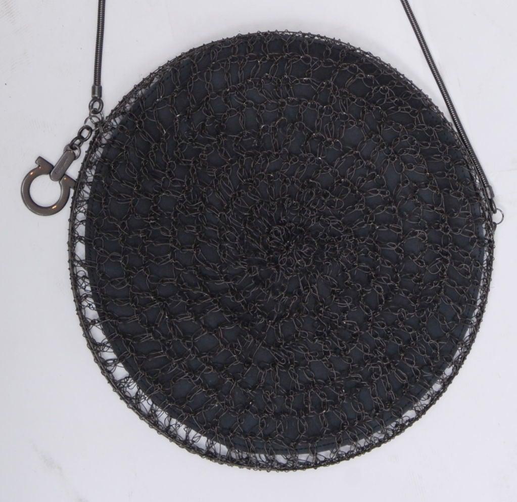 Salvatore Ferragamo Rhodium Metal Woven Bag 5