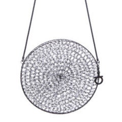 Salvatore Ferragamo Rhodium Metal Woven Bag
