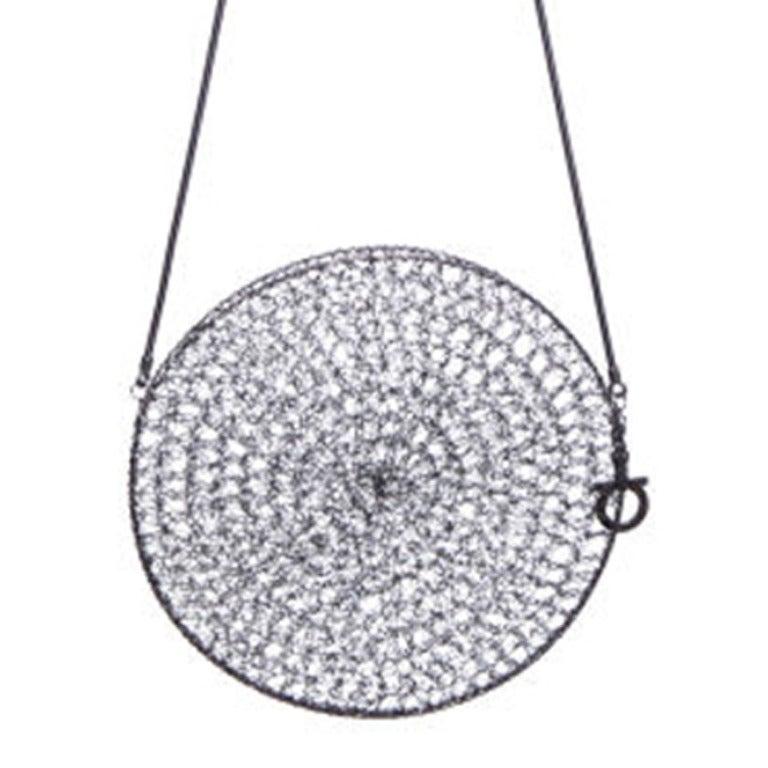 Salvatore Ferragamo Rhodium Metal Woven Bag 1