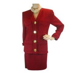 Chanel Vintage Fringed Tweed Suit