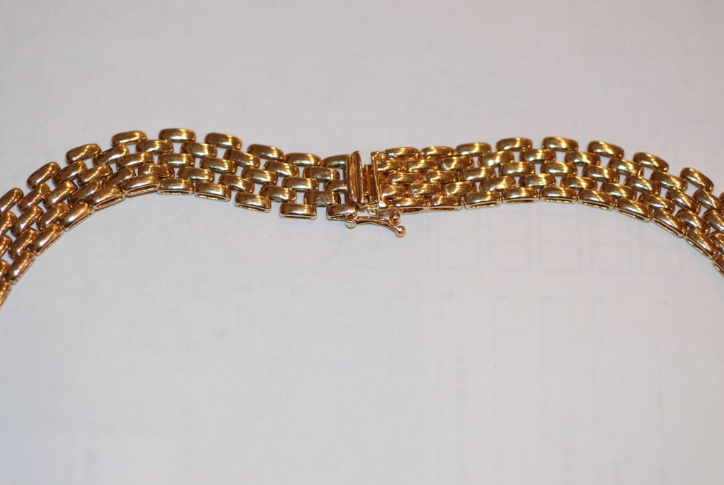 Diamond Gold Link Necklace In Excellent Condition For Sale In New Orleans, LA