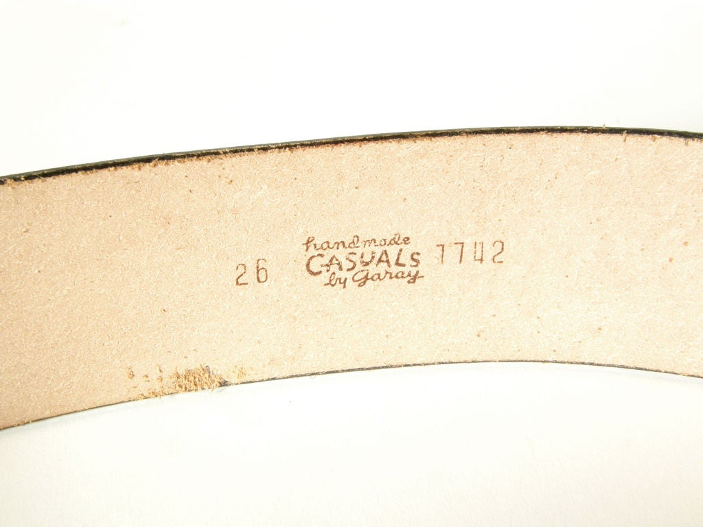 garay leather belt with quot heads quot at 1stdibs