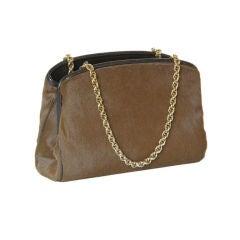 Morris Moskowitz Brown Ponyhide Handbag