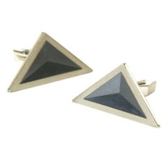 Dunhill Triangular Cuff Links