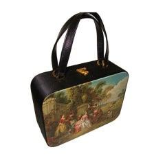 Large Silk Box Purse Evening Bag