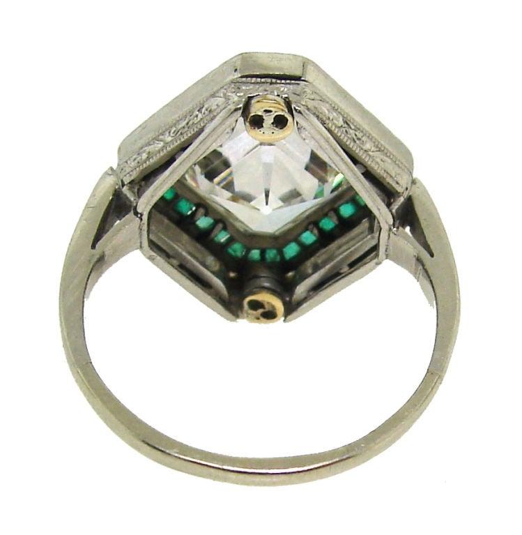 deco 3 79 cts asscher cut emerald and