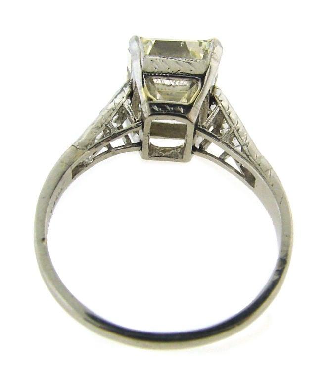 s 3 57 ct emerald cut platinum
