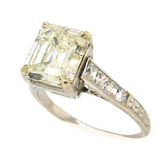 s 3 57 ct emerald cut and platinum