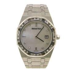 Audemars Piguet  Diamond, MOP& White Gold Royal Oak Ladies Watch