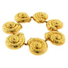 Rene Boivin 18k Yellow Gold Snail Bracelet
