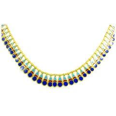 A Art Deco Egyptian revival necklace