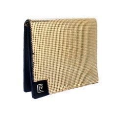 Pierre Cardin Gold Mesh Evening Bag