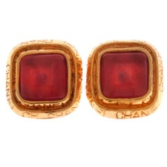 Chanel Poured Glass Earrings