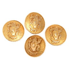 Four Rare 14kt Gold Pucci Buttons