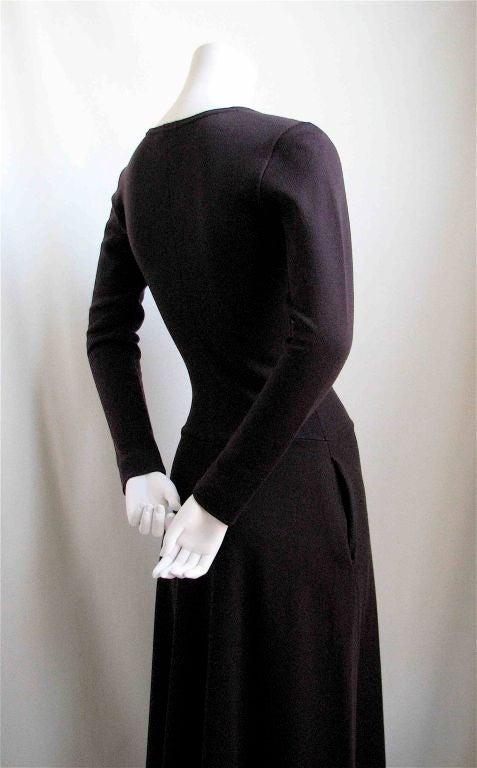 Black RUDI GERNREICH dress with plunging neckline For Sale