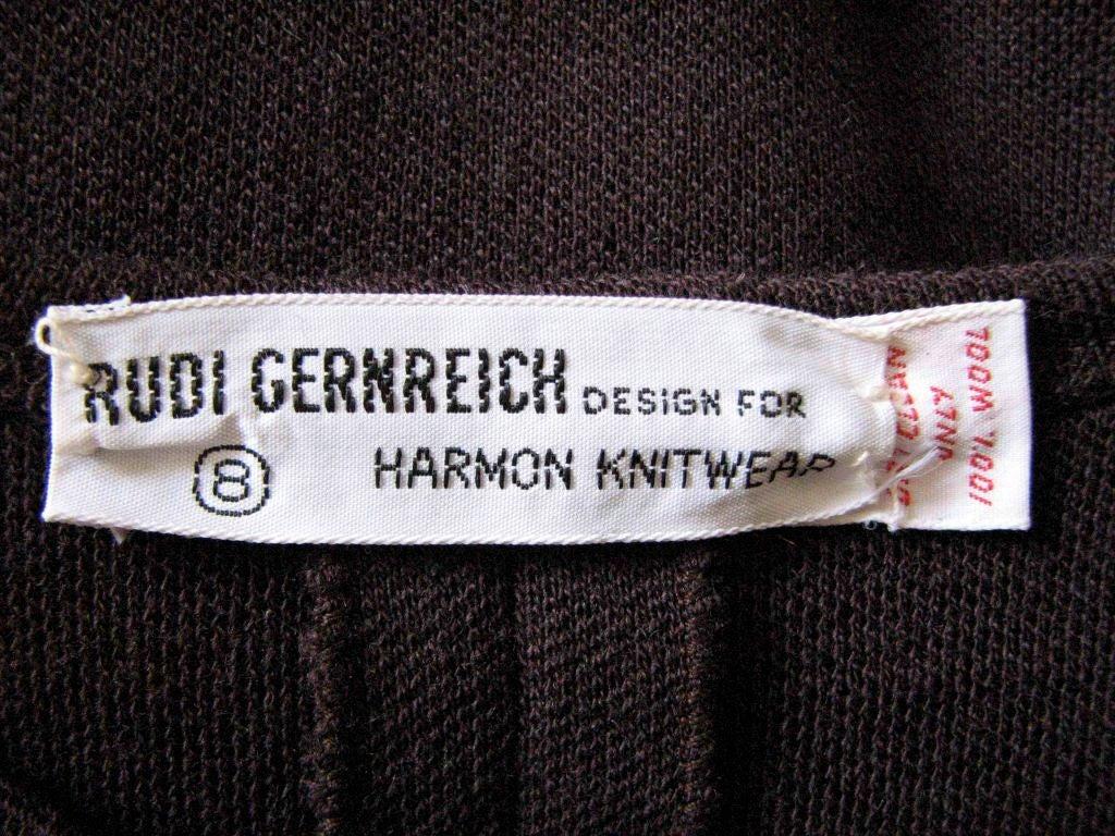 RUDI GERNREICH dress with plunging neckline In Excellent Condition For Sale In San Fransisco, CA