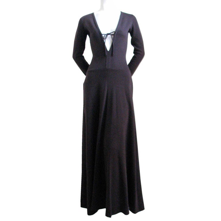RUDI GERNREICH dress with plunging neckline 1