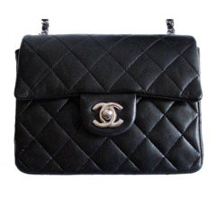 CHANEL mini classic bag with silver hardware