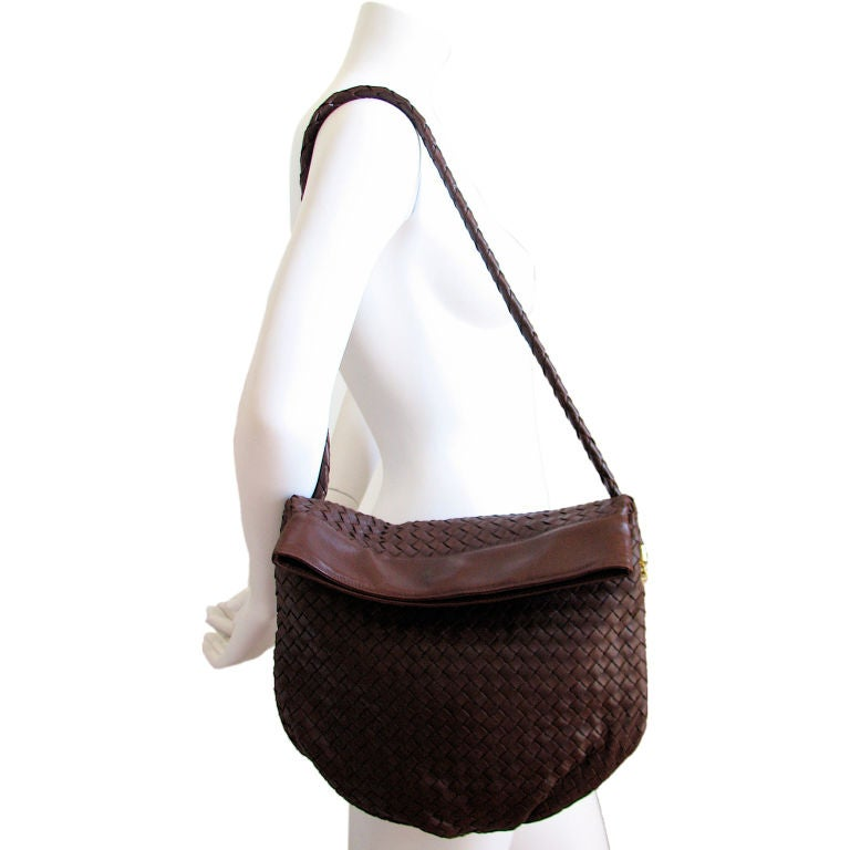 BOTTEGA VENETA brown woven hobo bag at 1stdibs e1ff34be3edb6
